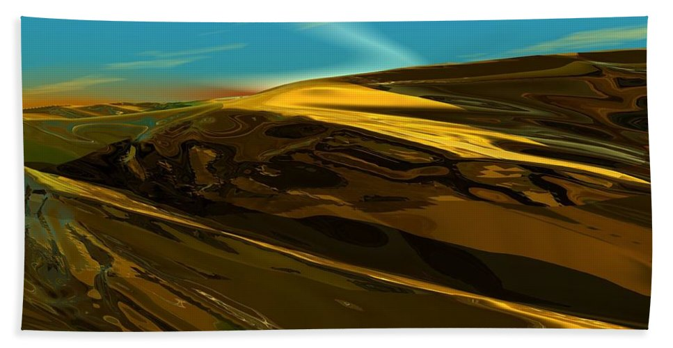 Landscape Bath Sheet featuring the digital art Alien Landscape 2-28-09 by David Lane
