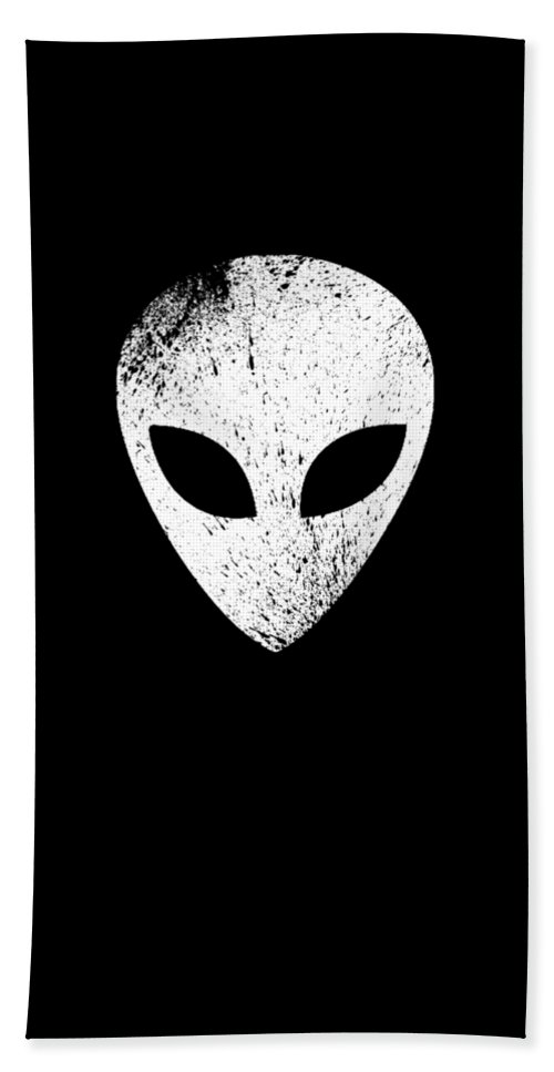 Abduct Hand Towel featuring the digital art Alien Ufo Science Gift by Michael S