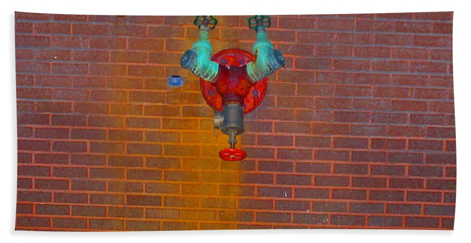 Photograph Hand Towel featuring the photograph All Alone Red Pipe by Thomas Valentine