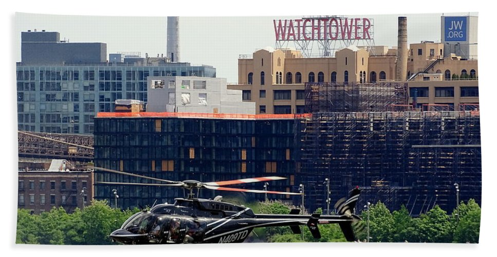 Helicopter Hand Towel featuring the photograph All Along The Watchtower by Ed Weidman