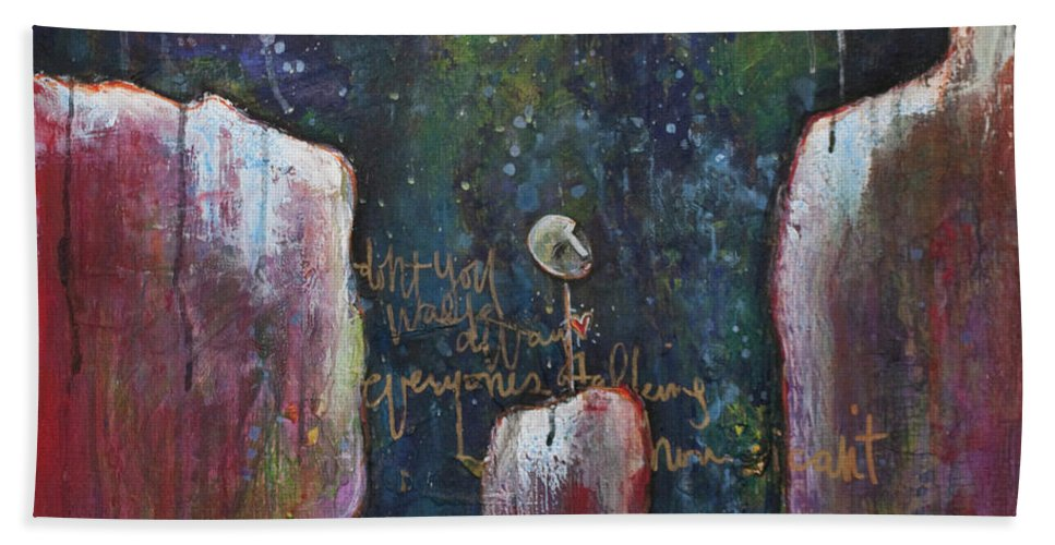 Lollipop Art Hand Towel featuring the painting All I Wanted by Laurie Maves ART
