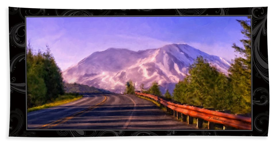 Mount Hand Towel featuring the painting All Roads Lead To The Mountain by Jeanette Mahoney