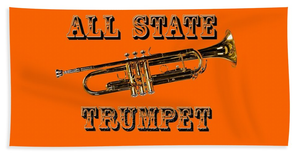 Trumpet Hand Towel featuring the photograph All State Trumpet by M K Miller