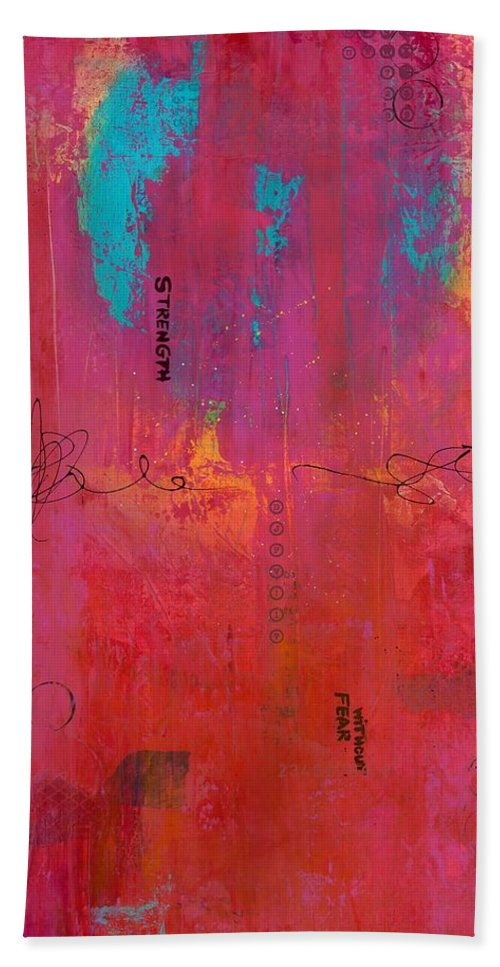 Acrylic Bath Sheet featuring the painting All The Pretty Things by Brenda O'Quin