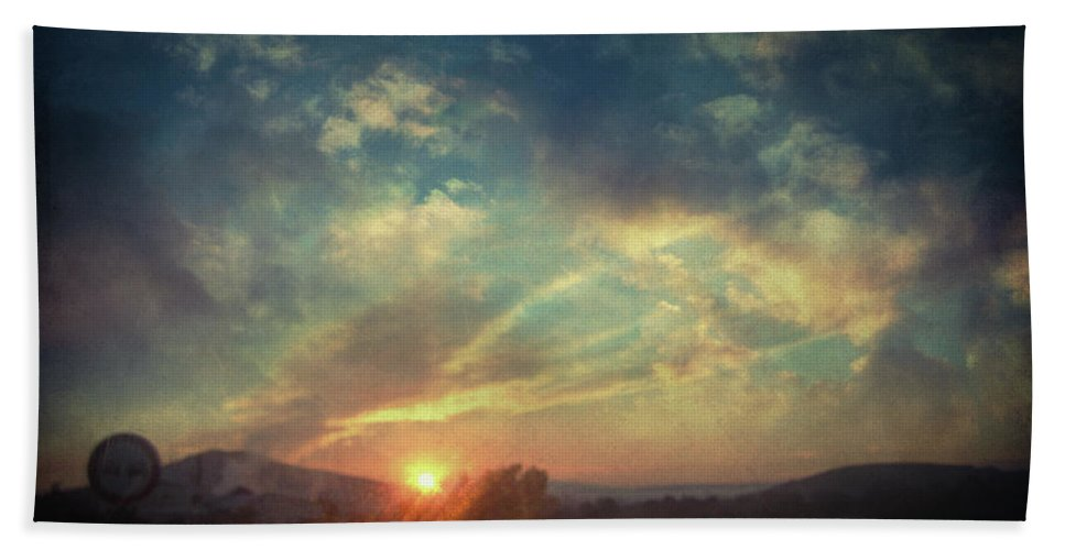 Landscape Hand Towel featuring the photograph All You Leave Behind by Zapista