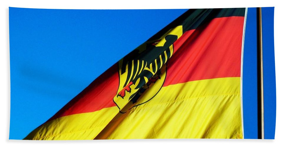 Drapeau Hand Towel featuring the photograph Allemagne ... by Juergen Weiss