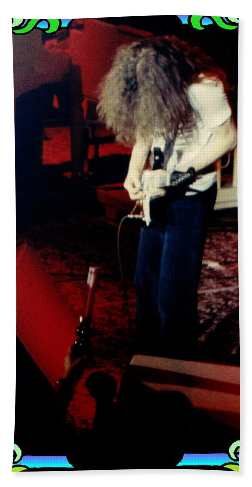 Allen Collins Hand Towel featuring the photograph A C Winterland Bong 3 by Ben Upham