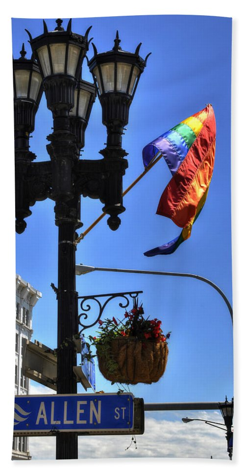 Buffalo Hand Towel featuring the photograph Allen Pride by Michael Frank Jr
