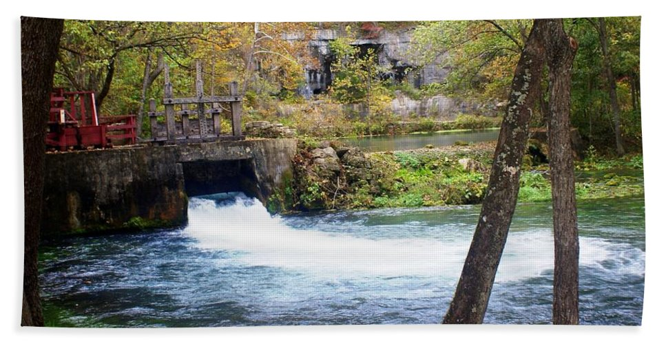Alley Spring Hand Towel featuring the photograph Alley Spring by Marty Koch
