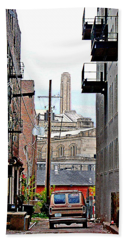 Cityscape Hand Towel featuring the photograph Alley by Steve Karol