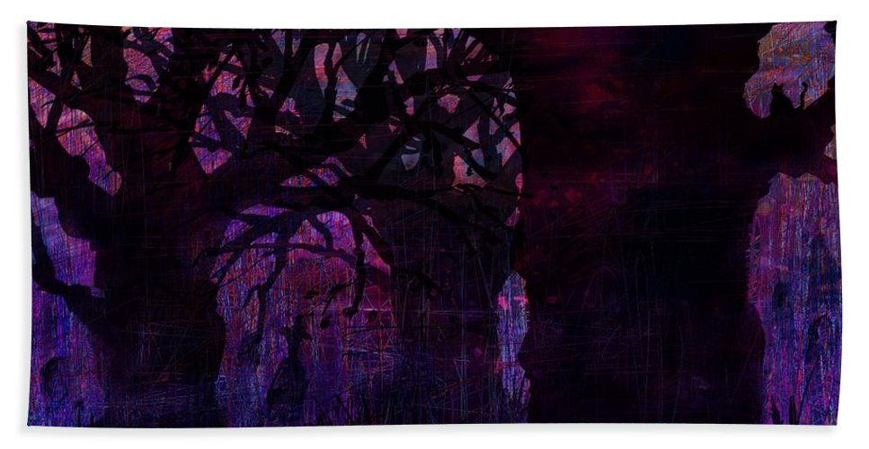 Abstract Hand Towel featuring the digital art Almost Dinnertime by Rachel Christine Nowicki