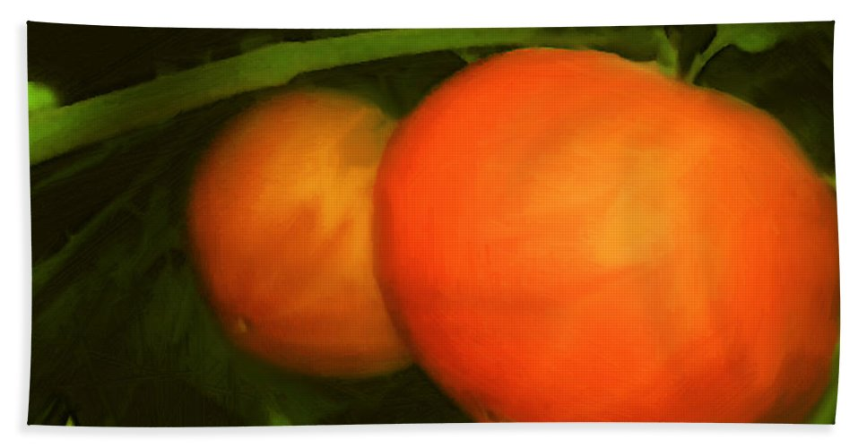 Red Bath Towel featuring the painting Almost Ready by RC DeWinter