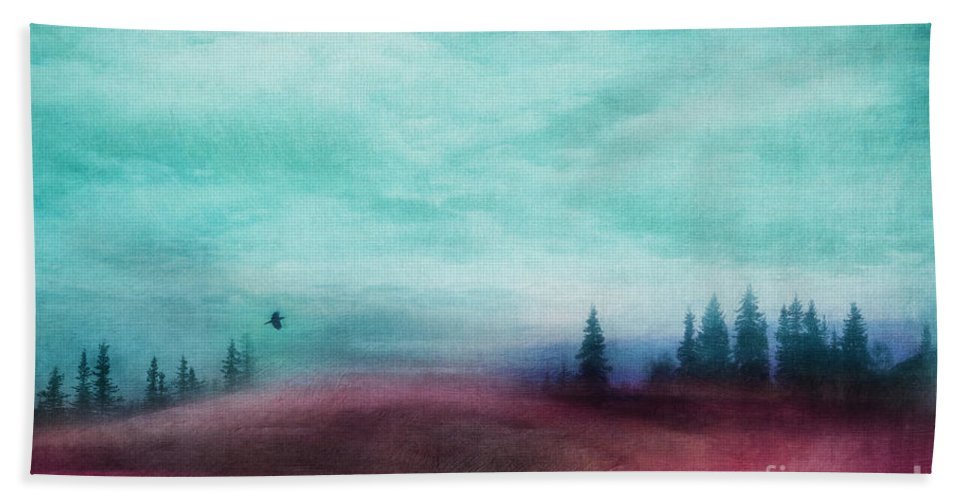 Red Bath Towel featuring the photograph Almost There by Priska Wettstein