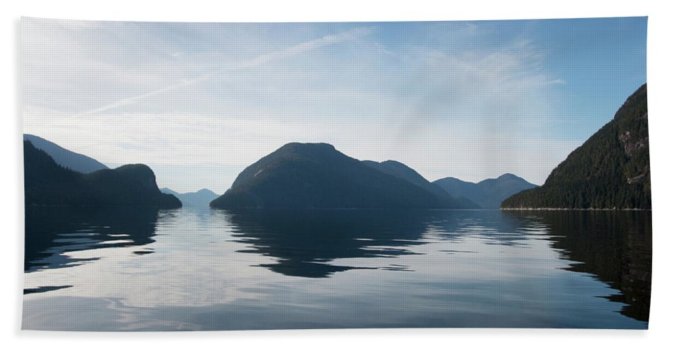 Inside Passage Bath Sheet featuring the photograph Almost To Shearwater by Virginia Dickens