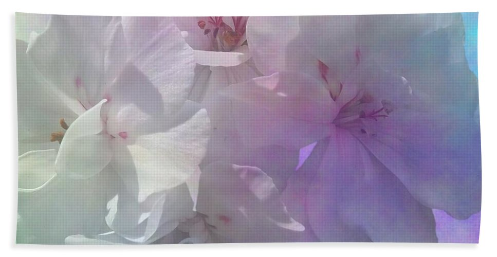 Photography Bath Sheet featuring the digital art Almost White by Issabild -