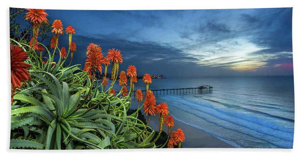 Green Bath Towel featuring the photograph Aloe Vera Bloom by Creigh Photography