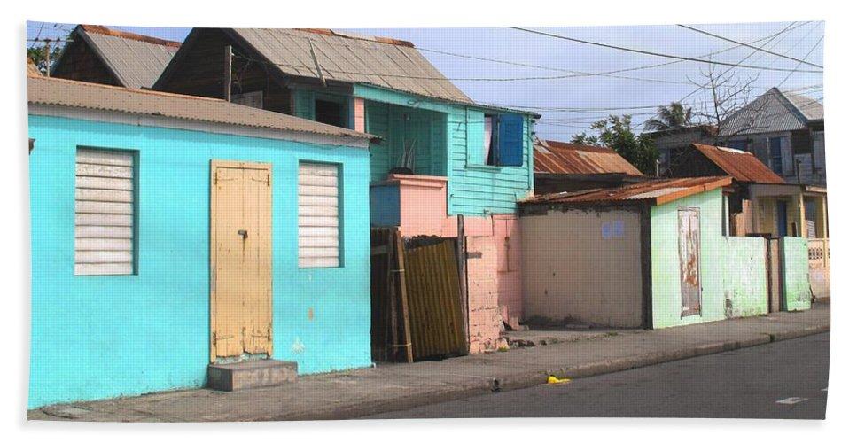 St Kitts Bath Sheet featuring the photograph Along Bay Road by Ian MacDonald