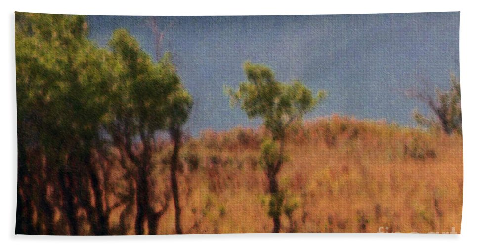 Field Hand Towel featuring the digital art Along The Lake by Richard Rizzo