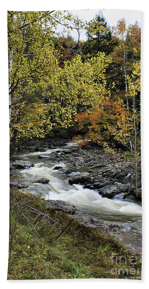 Autumn Bath Sheet featuring the photograph Along The Rural Road by Deborah Benoit