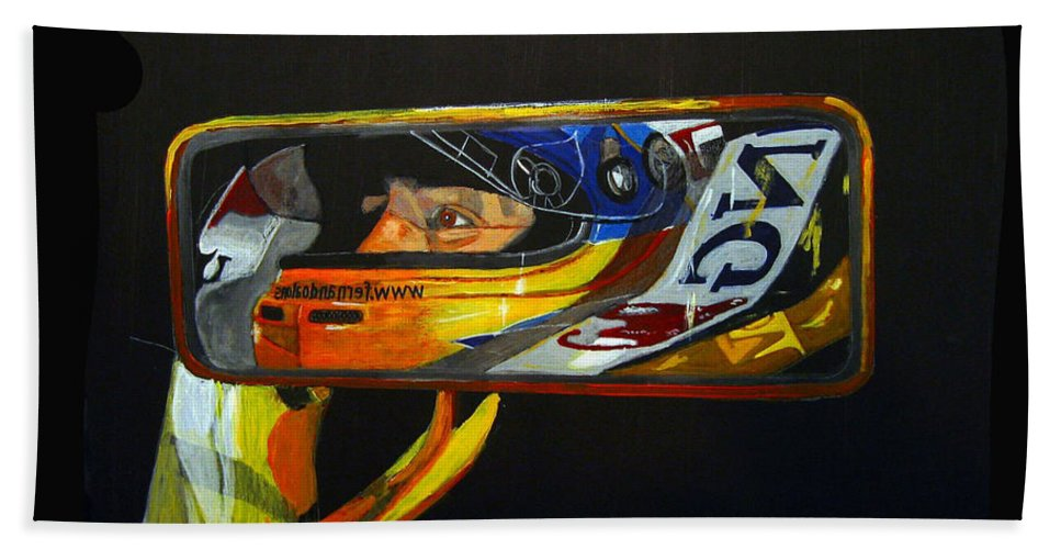 Alonso Bath Sheet featuring the painting Alonso by Richard Le Page