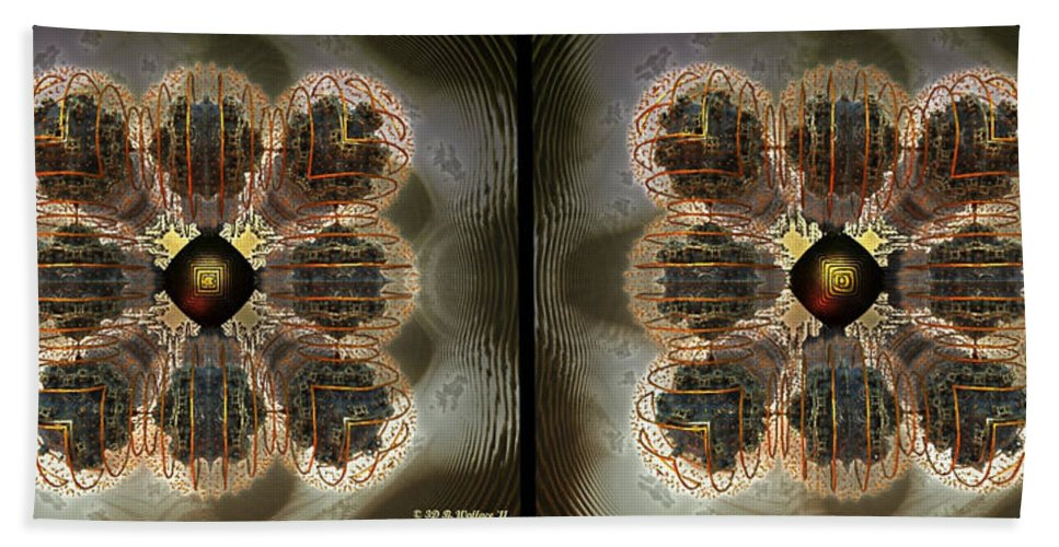 3d Bath Sheet featuring the photograph Alpha Waves - Gently Cross Your Eyes And Focus On The Middle Image by Brian Wallace