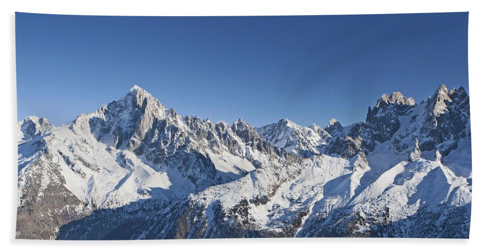 Mountain Hand Towel featuring the photograph Alpine Panorama by Pat Speirs