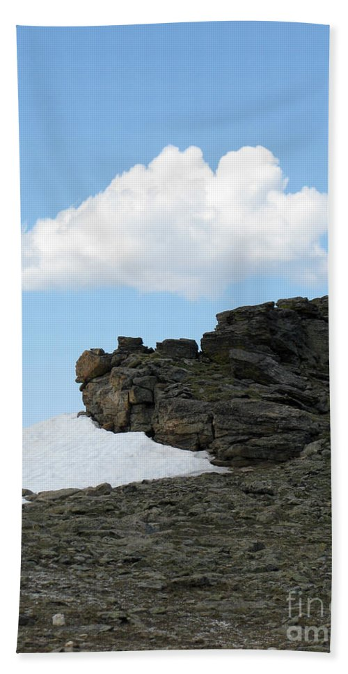 Rocky Mountains Hand Towel featuring the photograph Alpine Tundra - Up in the clouds by Amanda Barcon