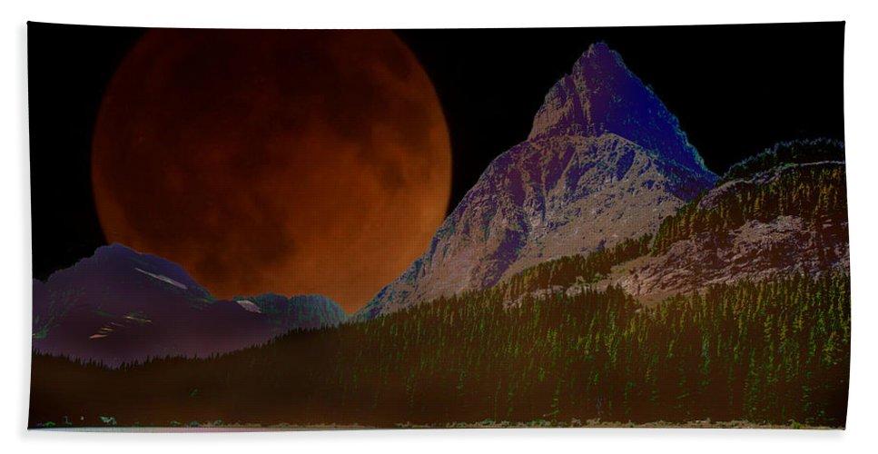 Photo Art Bath Sheet featuring the photograph Alternate Universe Glacier Park by Mick Anderson