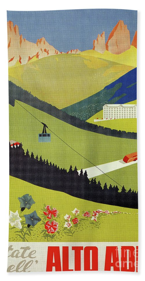 Italian Bath Sheet featuring the digital art Alto Adige South Tyrol by Aapshop