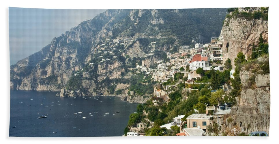Amalfi Hand Towel featuring the photograph Amalfi Coast II by Steven Sparks