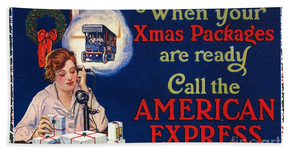 1915 Hand Towel featuring the photograph American Express Shipping by Granger