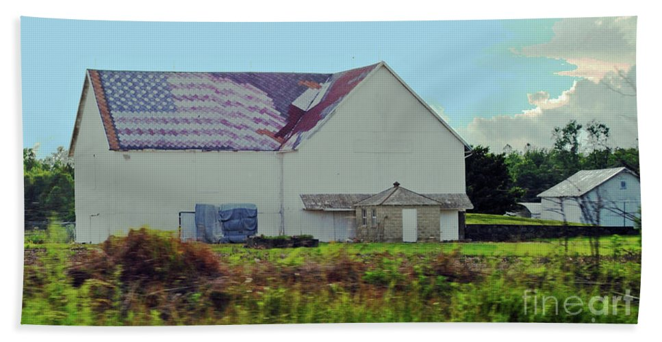 American Bath Sheet featuring the photograph American Farm by Jost Houk