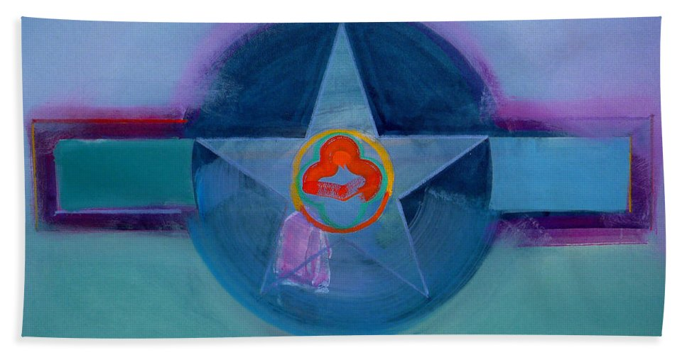 Star Bath Sheet featuring the painting American Spiritual by Charles Stuart