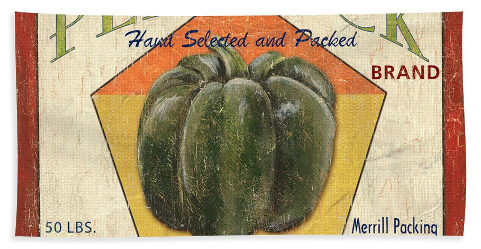 Vegetables Hand Towel featuring the painting Americana Vegetables 1 by Debbie DeWitt