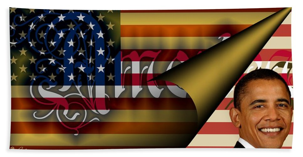America Hand Towel featuring the digital art Americas New Design 2009 by Helmut Rottler