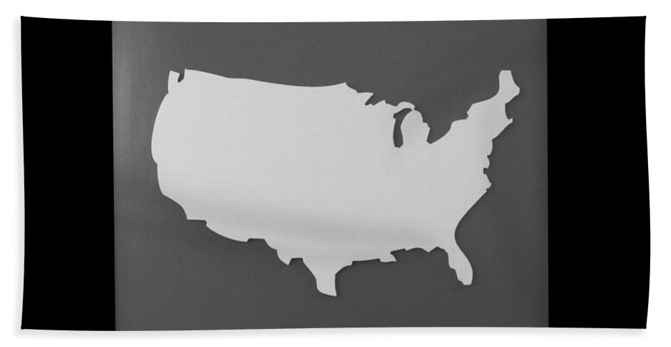 Black And White Hand Towel featuring the photograph Amerika by Rob Hans