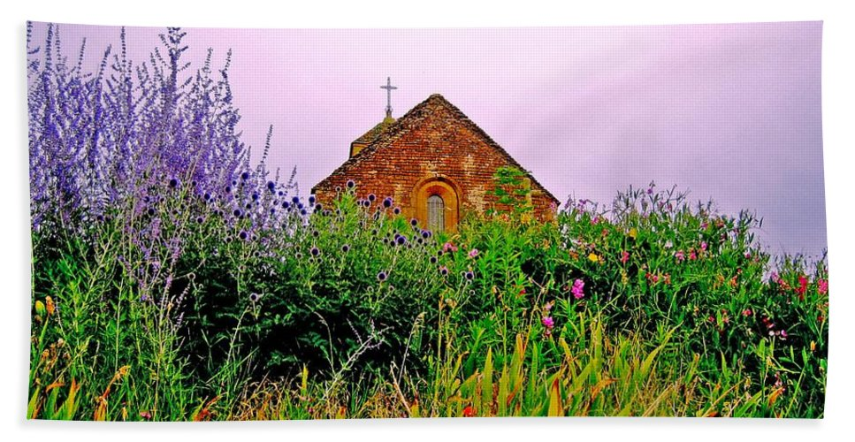 Chapel Hand Towel featuring the photograph Ameugny 3 by Jeff Barrett