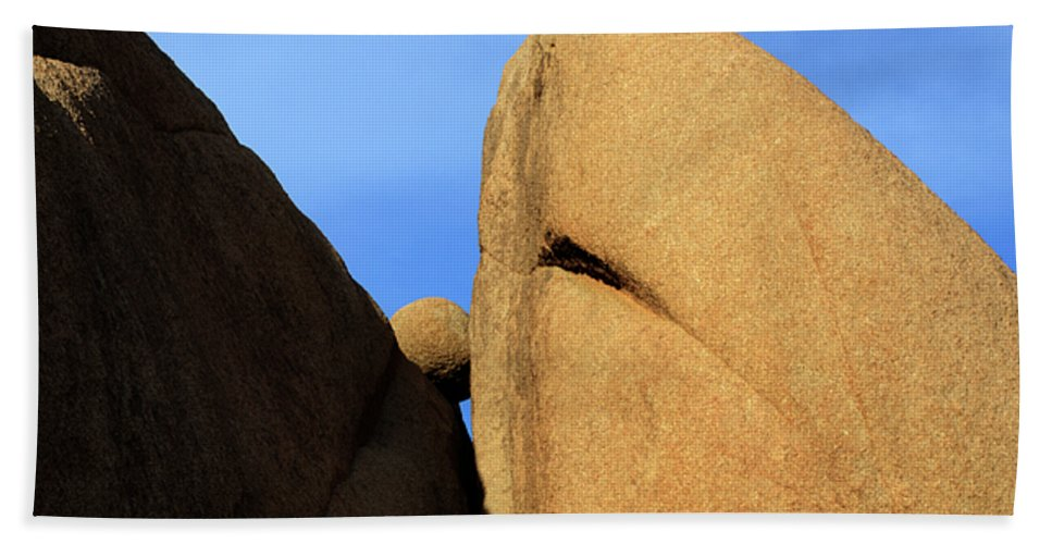 Joshua Tree National Park Hand Towel featuring the photograph Amongst Giants by Bob Christopher