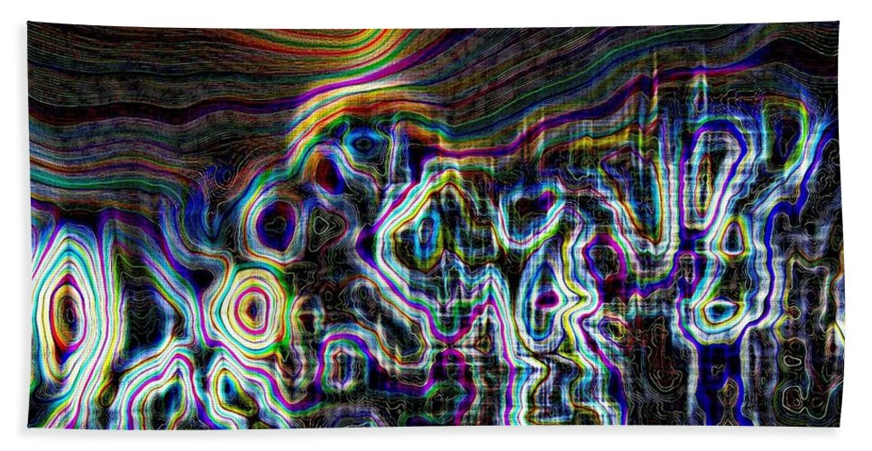 Amorphous Bath Sheet featuring the digital art Amorphous 1 by Will Borden