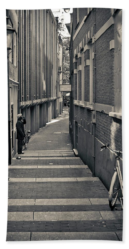 3scape Photos Hand Towel featuring the photograph Amsterdam by Adam Romanowicz
