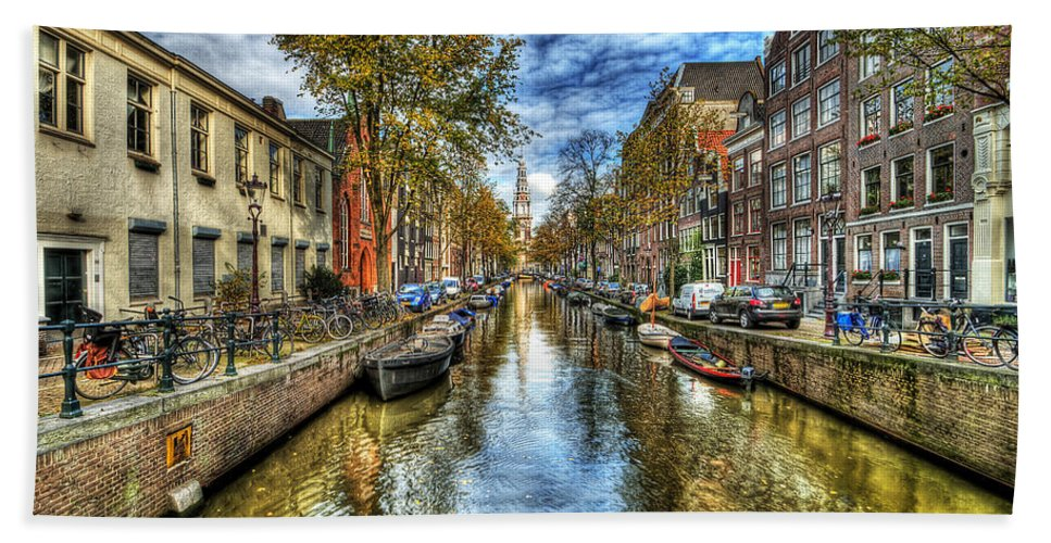 Amsterdam Bath Towel featuring the photograph Amsterdam by Svetlana Sewell