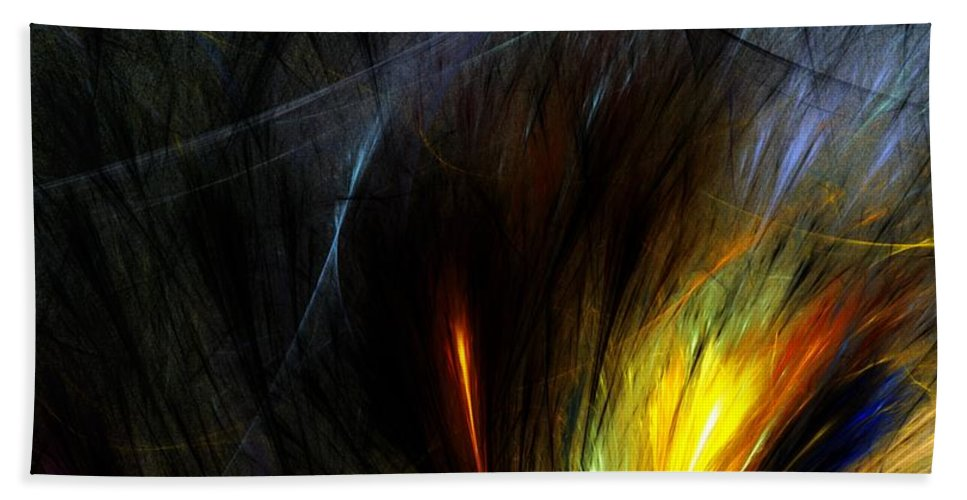 Digital Painting Bath Sheet featuring the digital art An Angry Moment by David Lane