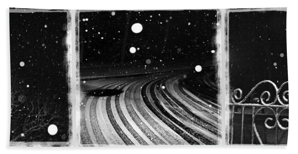 Art Bath Sheet featuring the photograph an English winter - number I by Dorit Fuhg