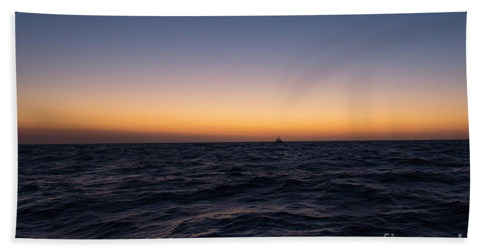 Seascapes Bath Sheet featuring the photograph An Hour Before by Tom Rostron
