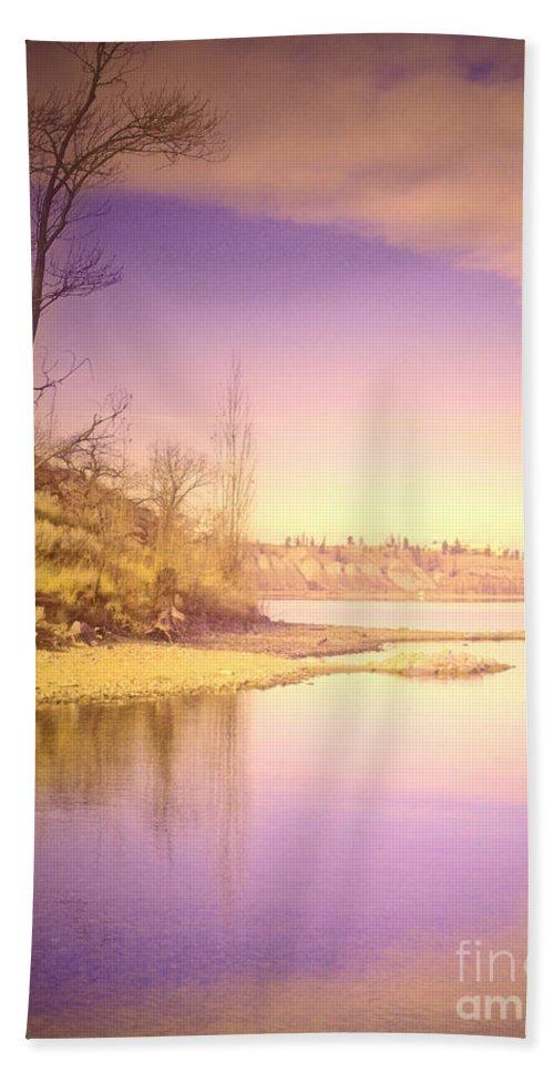 Lake Hand Towel featuring the photograph An Okanagan Calm by Tara Turner