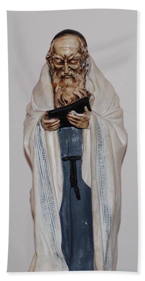 Rabbi Bath Towel featuring the photograph An Old Rabbi by Rob Hans