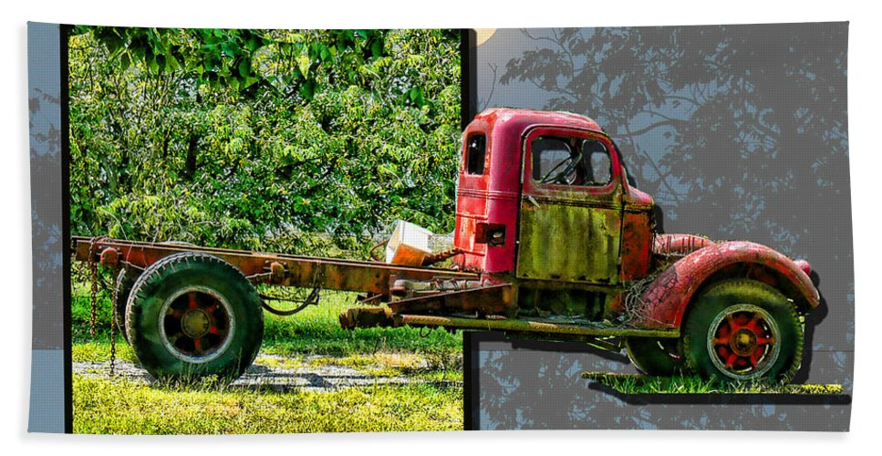 Truck Hand Towel featuring the photograph An Old Relic by Ericamaxine Price