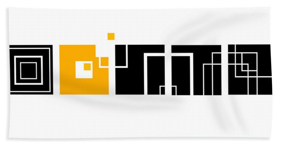 Orange Hand Towel featuring the digital art An Orange One by Ewelina Karbownik
