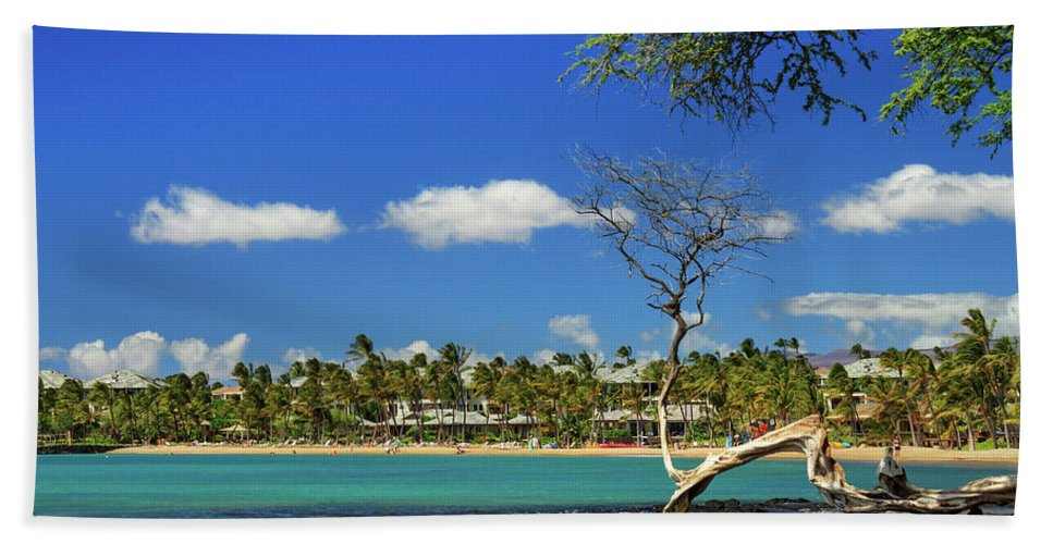 Bay Hand Towel featuring the photograph Anaehoomalu Bay by James Eddy