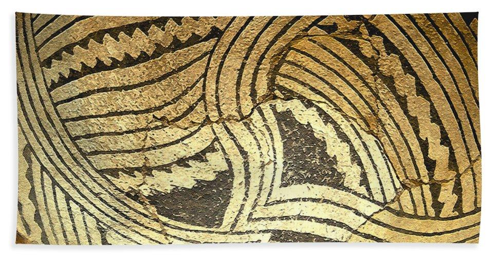Anasazi Hand Towel featuring the painting Anasazi Pot by David Lee Thompson